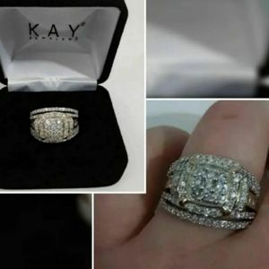 Diamond Ring 1 ct tw solid 10K Yellow Gold size 7
